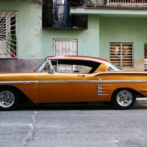 the traditional car wintage in Havana cuba